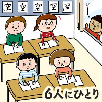 外国籍の子どものうち、6人に一人が学校に通えていない