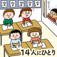 外国籍の子どものうち、14人に一人が学校に通えていない