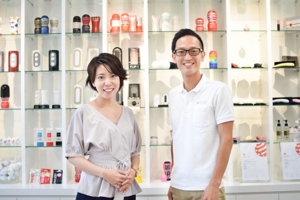 TENGAヘルスケア取締役の佐藤雅信さんと広報の西野芙美さん