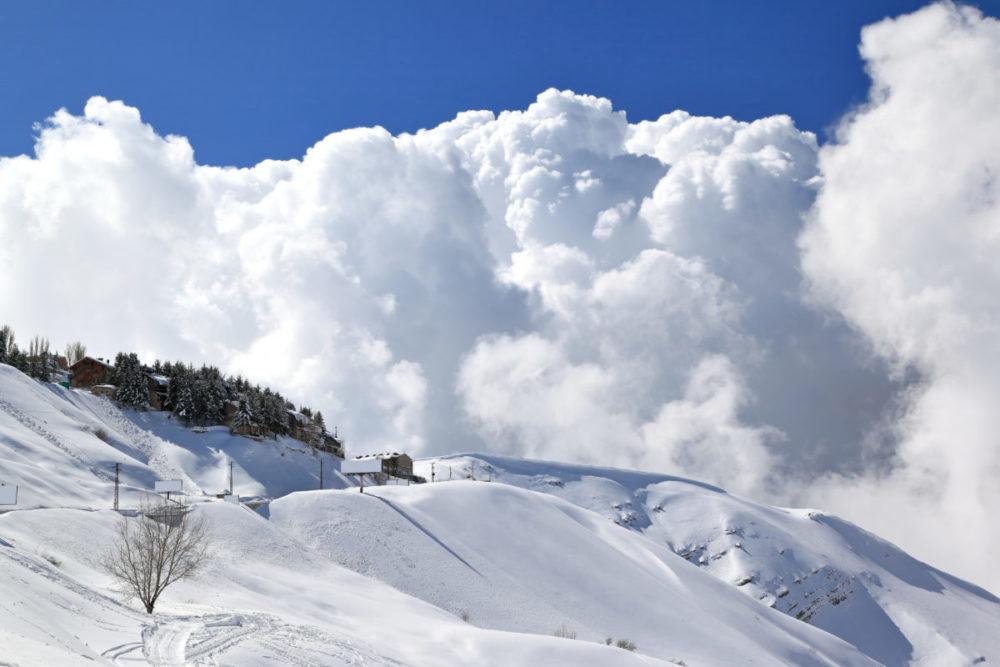 レバノンの雪山