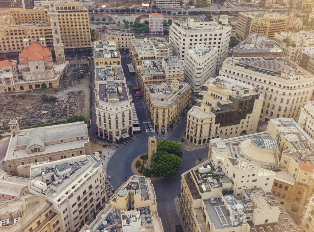 首都ベイルートの中心にあるエトワール広場