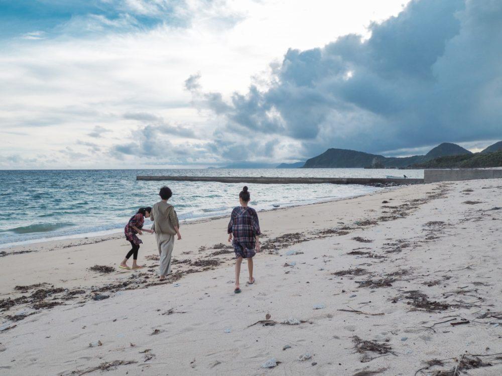 奄美大島の砂浜で