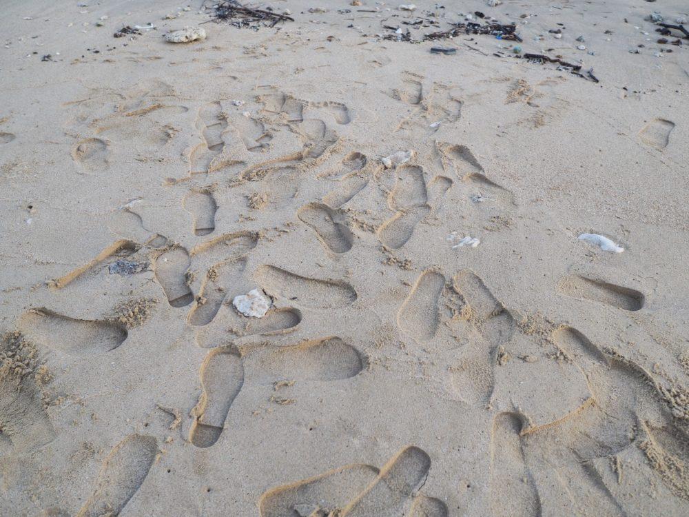 奄美大島の砂浜の写真