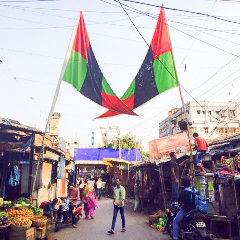 インド・コルカタにあるムスリム街