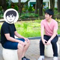 大先輩のジャーナリスト・古田大輔さんにインタビューするひもっち