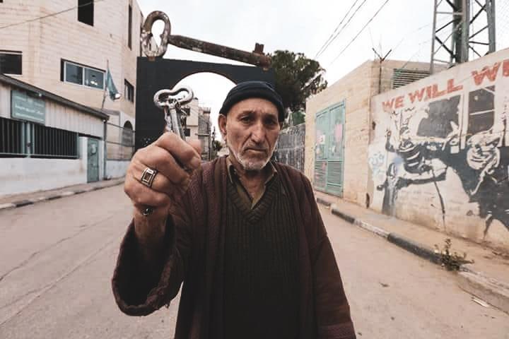 鍵を持ったパレスチナ難民