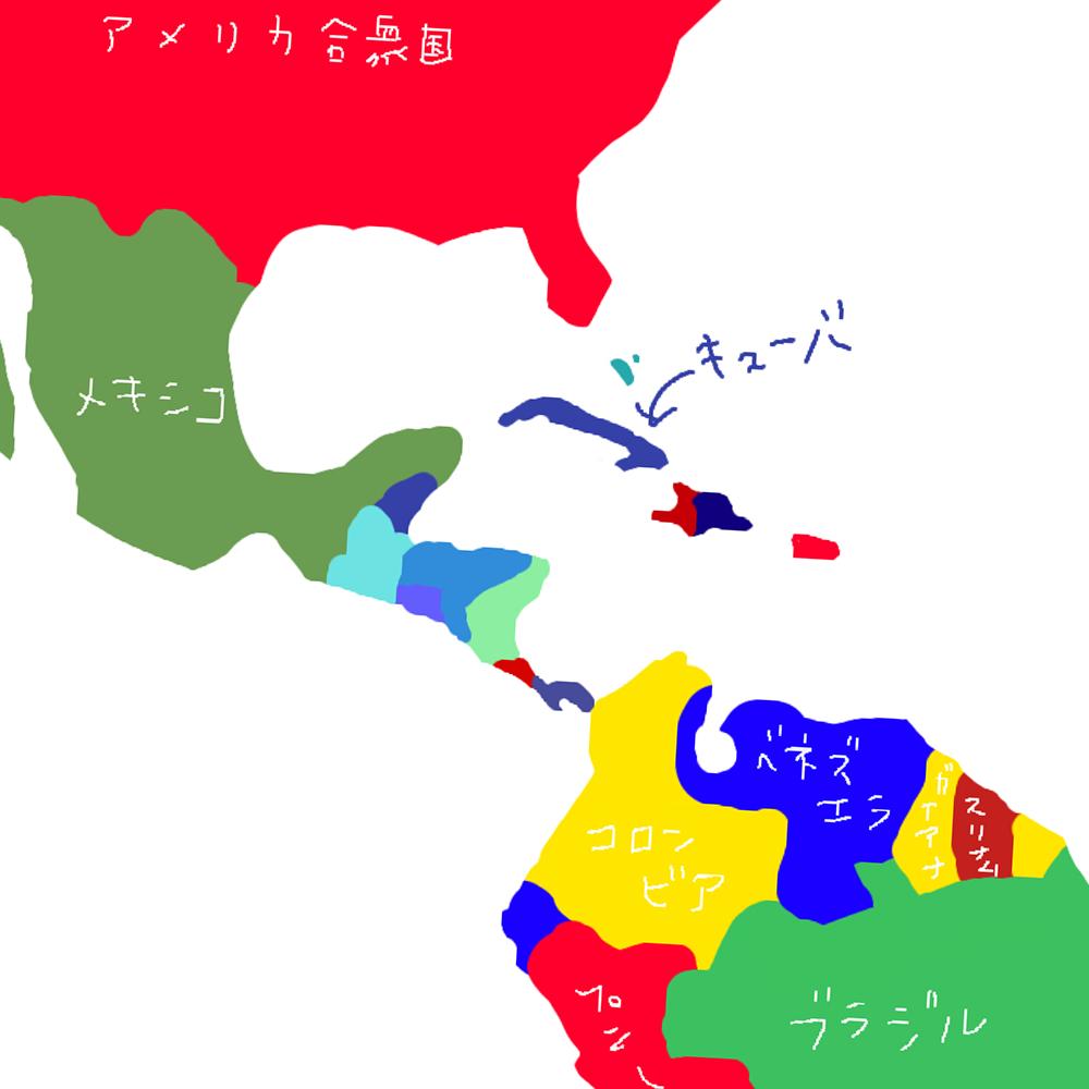 南米ベネズエラのちず