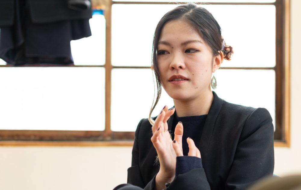 福田さんが、高校生の妊娠について語るシーン