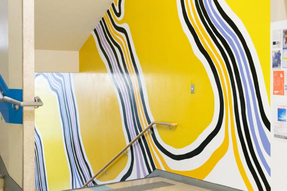 佐々木さんの作品をオマージュした壁画
