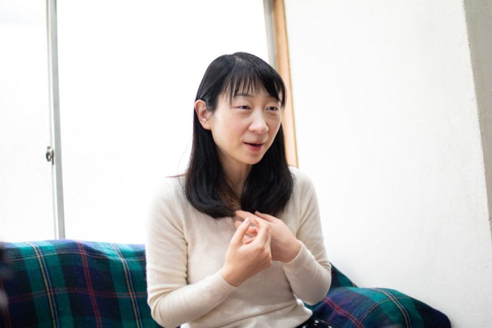 道の駅について語る須川まきこさん