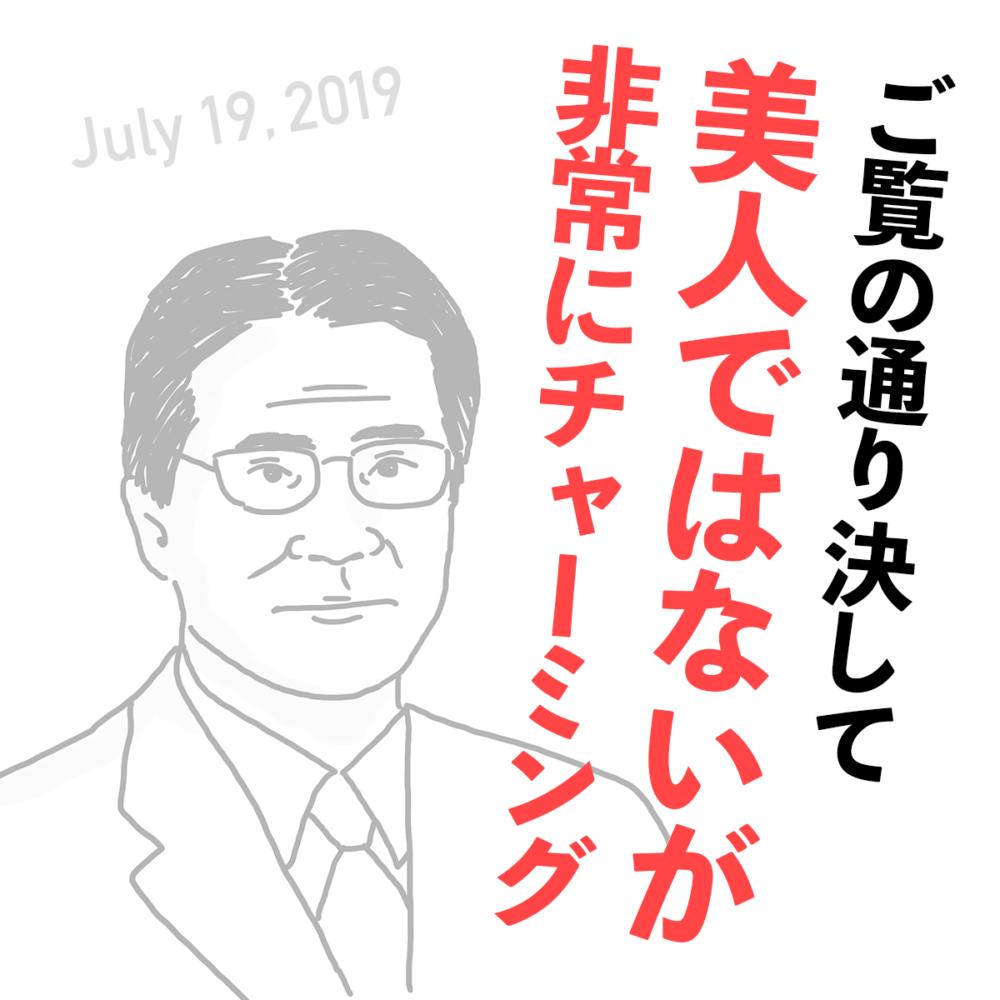 参院議員・国民民主党の増子輝彦氏のジェンダー失言(2019年7月19日)