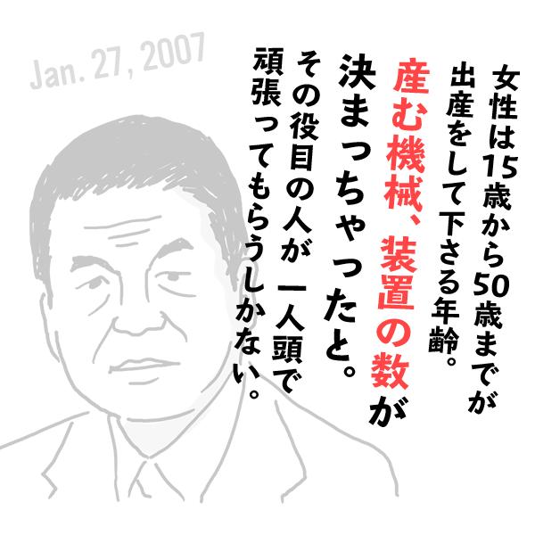 自民党・柳澤伯夫の失言(2007年1月27日)