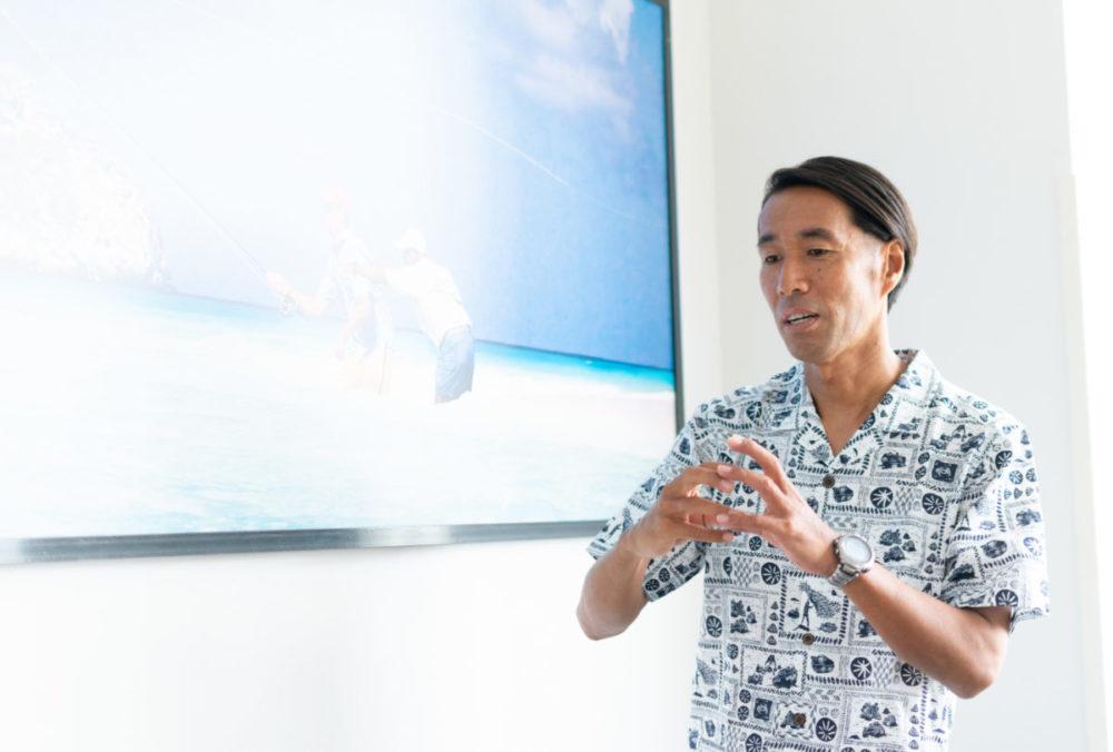 パタゴニア日本支社で、インタビューに応えてくれた辻井隆行さん